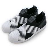 Adidas 愛迪達 SUPERSTAR SLIP ON W  經典復古鞋 D96703 女 舒適 運動 休閒 新款 流行 經典