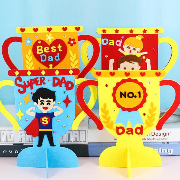 【BlueCat】兒童DIY我的冠軍爸爸獎盃材料包 父親節