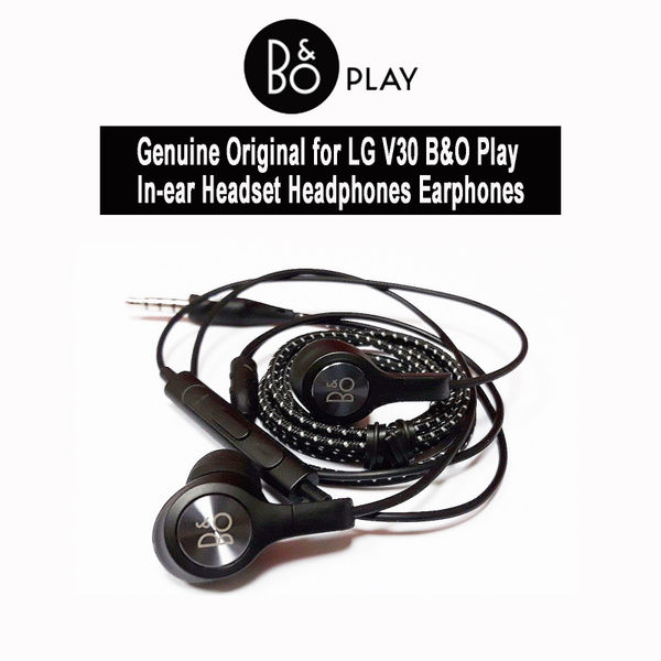 B&O Play by Bang 和 Olufsen LG V30+原廠入耳式耳機帶麥克風 3.5mm音頻插孔