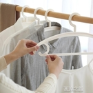 曬衣架 20個裝掛衣架加厚防滑無痕衣掛鉤家用成人衣柜衣撐子塑料晾衣架子