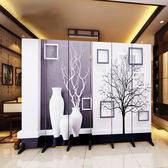 新歐式屏風隔斷墻客廳臥室現代簡約時尚折屏移動折疊雙面辦公室(6扇價格)xw