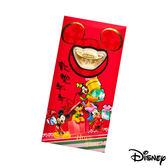 Disney迪士尼系列金飾-黃金元寶紅包袋-闔家歡樂款