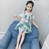 黑五好物節夏裝女童連身裙洋氣兒童公主裙女孩衣服裙子【洛麗的雜貨鋪】