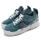 Nike 休閒鞋 Dunk Low Disrupt 土耳其藍 女鞋 天鵝絨 解構 厚底 【ACS】 DO5219-010
