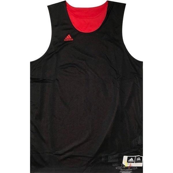 Adidas 愛迪達 球衣 黑 紅 雙面穿團體籃球服 球衣 透氣 上衣 刺繡 無袖 背心 t恤 CD8698