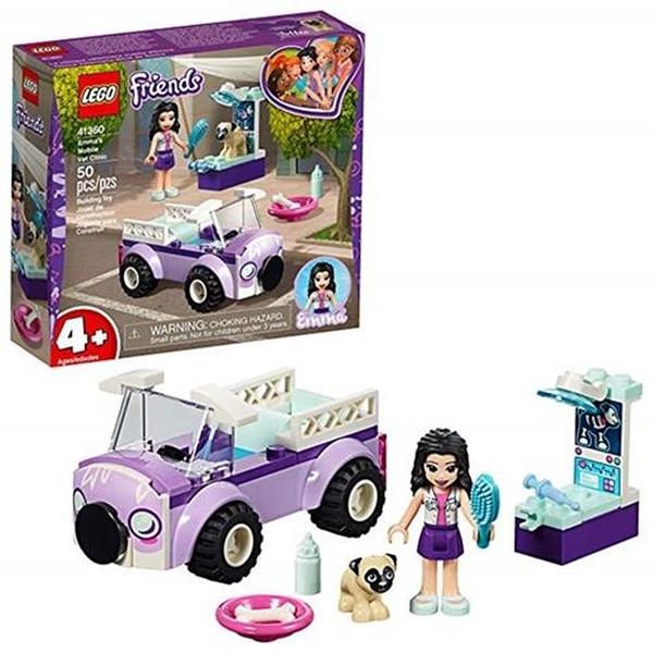 LEGO 樂高 Friends 4+ Emma s Mobile Vet Clinic 41360 Building Kit (50 Piece)