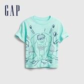 Gap男幼童 Gap x Marvel 漫威系列印花圓領短袖T恤 664138-淡綠色