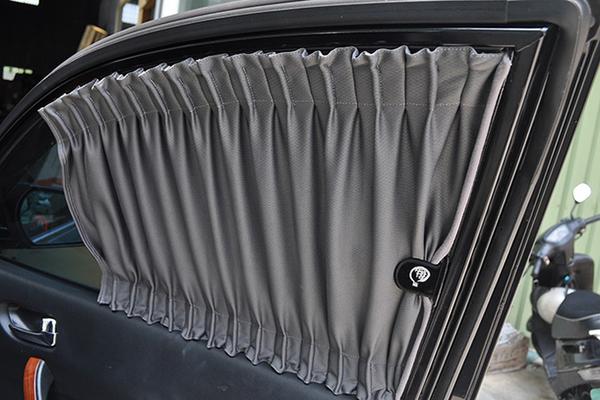 carlife美背式汽車窗簾(休旅車/小箱車用)--頂級竹炭【6窗 側前+側後+側尾】北中南皆可安裝須安裝費