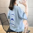 純棉短袖T恤女ins超火春夏季新款休閒百...