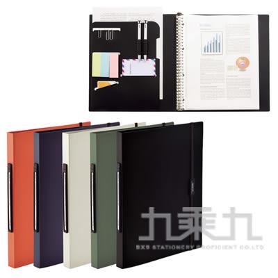 【九乘九購物網】日本潮流 LIHIT 附繩多功能30孔資料本(Smart Fit)-黑 N-7520-24
