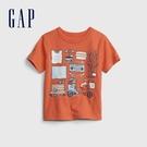 Gap男幼童 布萊納系列 純棉童趣圓領短袖T恤 681413-橘色印花