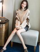 套裝女 秋冬時尚新款氣質洋氣俏皮寬鬆慵懶毛衣兩件套YYP   傑克型男館