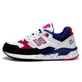 New Balance 530 女 藍 白 桃紅 潑漆 復古休閒鞋 麂皮 慢跑鞋 NB W530PSA