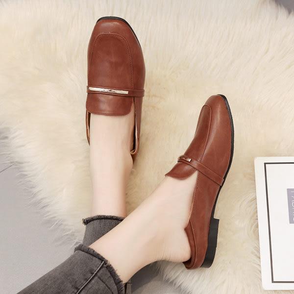 第二代穆勒鞋.訂製款.MIT兩穿可後踩氣質金屬方頭平底包鞋.白鳥麗子