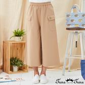 【Tiara Tiara】百貨同步新品aw  小狗刺繡雙口袋寬褲(綠/卡其)