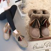 流苏鞋雪地靴女新款棉鞋女流蘇靴鞋子女冬加絨保暖棉靴防滑雪地靴女 伊莎公主