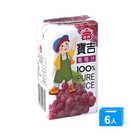義美寶吉100%純果汁-葡萄綜合125ml*6【愛買】