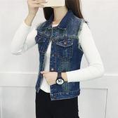 牛仔背心春季新款牛仔寬鬆大碼馬甲背心韓版女裝小外套 mc7192『東京衣社』