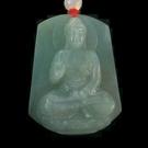 【歡喜心珠寶】【大尊南無阿彌陀佛法像玉墜】天然緬甸冰種翡翠雕「A貨附保証書」尋找有緣人。