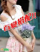 【Osun 】蕾絲小可愛背心 百搭蕾絲雙肩短版黑白2051 CE 176C