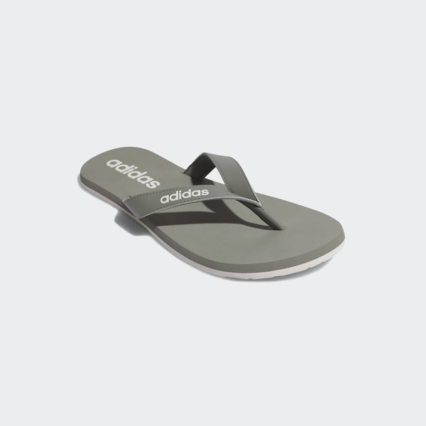 Adidas Eezay Flip-Flops男款橄欖綠輕便夾腳拖鞋-NO.EG2039