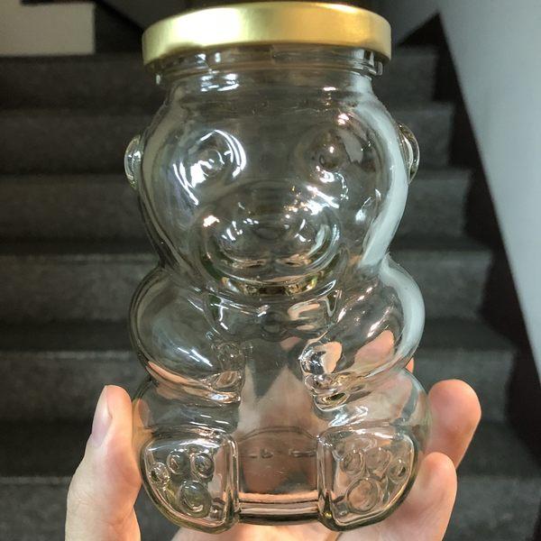 265cc 小熊造型玻璃瓶 附金蓋 奶酪布丁杯 果醬瓶 布蕾杯 婚禮小物 蜂蜜瓶 玻璃杯 玻璃罐T025
