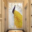 ▶3d玄關過道走廊背景墻紙壁紙簡約現代5d立體裝飾壁畫影視墻布歐式
