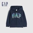 Gap男幼童 Logo漸層碳素軟磨連帽外套 656230-藏藍色
