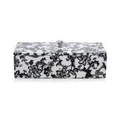 青花瓷系列-貴族黑色-水鑽長方形多功能收納盒