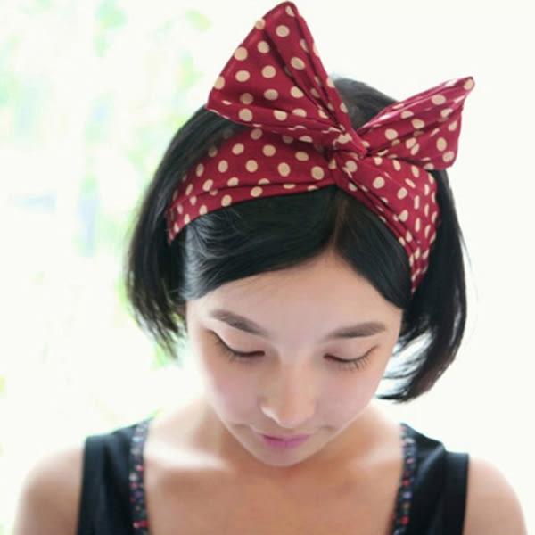 韓國 流行 布藝 髮飾 兔耳朵 髮帶 蝴蝶結 髮帶 百變 多功能 絲巾 髮箍
