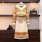 網紅款兩件套裝裙XL-4XL大碼女裝秋裝...