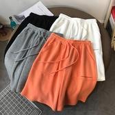 運動短褲夏季新款休閒闊腿中褲女韓版寬鬆bf風大碼百搭外穿運動五分短褲潮 雙11 伊蘿