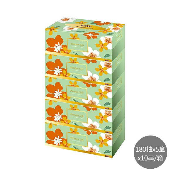 【五月花】親肌感盒裝面紙 (180抽x5盒x10串/箱)