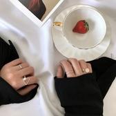 戒指冷淡風復古裝飾簡單原創設計女清新潮流港風土酷尾戒