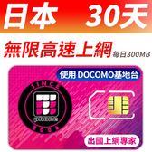 【TPHONE上網專家】日本DOCOMO 30天 無限高速上網卡 當地原裝卡 每天前面300MB 支援4G高速