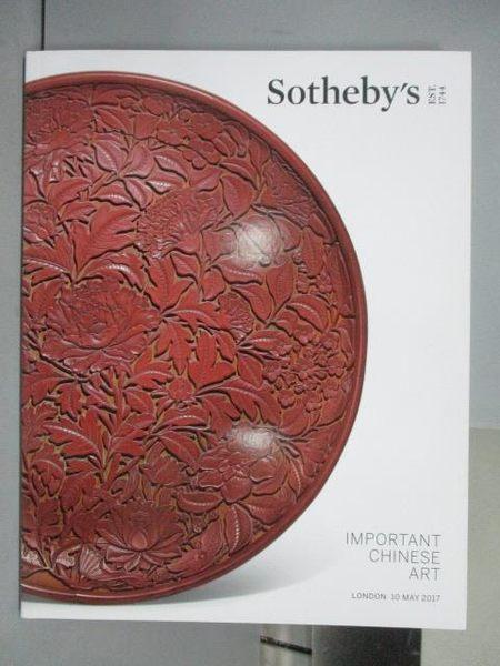 【書寶二手書T7/收藏_QFY】Sotheby s_Important Chinese Art_2017/5/10