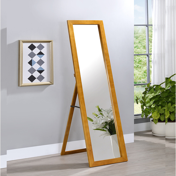 ONE生活 防爆實木立鏡掛鏡2用款/全身鏡/落地鏡/掛鏡/壁鏡