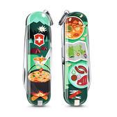 VICTORINOX 瑞士維氏限量迷你7用印花瑞士刀-露營美食