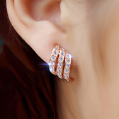 高級感耳夾法式女無耳洞氣質網紅百搭耳環耳飾耳釘2019新款潮YJ1967【雅居屋】