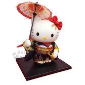〔小禮堂〕Hello Kitty 傳統手工人形擺飾《紅.和服.舞姿.撐傘》華貴典雅 4991567-96401