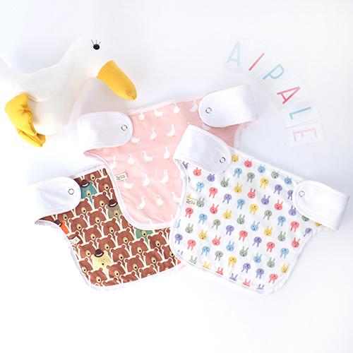 韓國空運mango tango印花背巾口水巾 背帶口水巾 吸吮巾