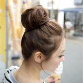 限定款假髮 韓系假髮頭花髮圈真髮髮圈真髮頭花新娘盤頭髮包丸子頭假髮女生假髮捲