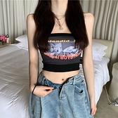 抹胸上衣 辣妹抹胸外穿2021新款夏季網紅爆款防走光內搭短款上衣女性感裹胸 伊蘿