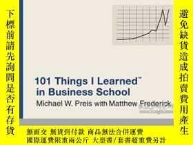 二手書博民逛書店101罕見Things I Learned In Business SchoolY256260 Michael