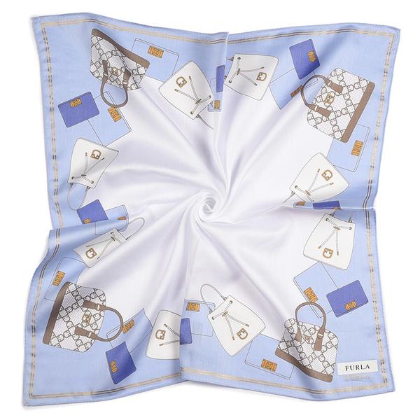 FURLA品牌包包印花純綿帕領巾(粉紫色)989250-7