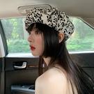 八角帽 小眾設計師款云朵帽春秋款復古八角畫家帽顯臉小貝雷帽女夏薄款潮