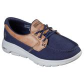 SKECHERS系列-GOWALK 5 男款海軍藍綁帶式馬克縫帆船運動健走鞋-NO.216014NVBR