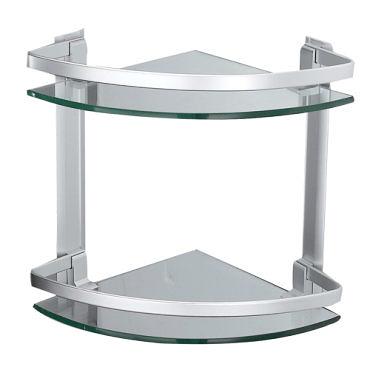 【麗室衛浴】G-032-1 鋁合金 扇型  兩層置物架 26.5X26.5cmXH30CM