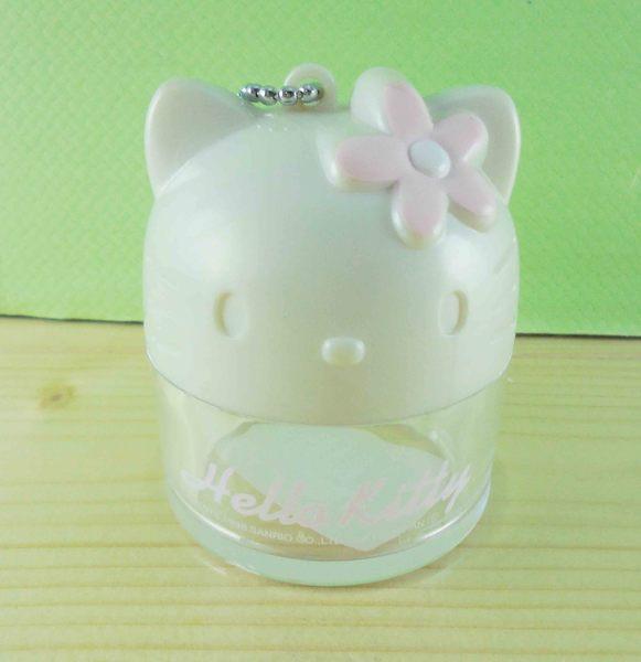 【震撼精品百貨】Hello Kitty 凱蒂貓~KITTY造型罐/空盒-白花