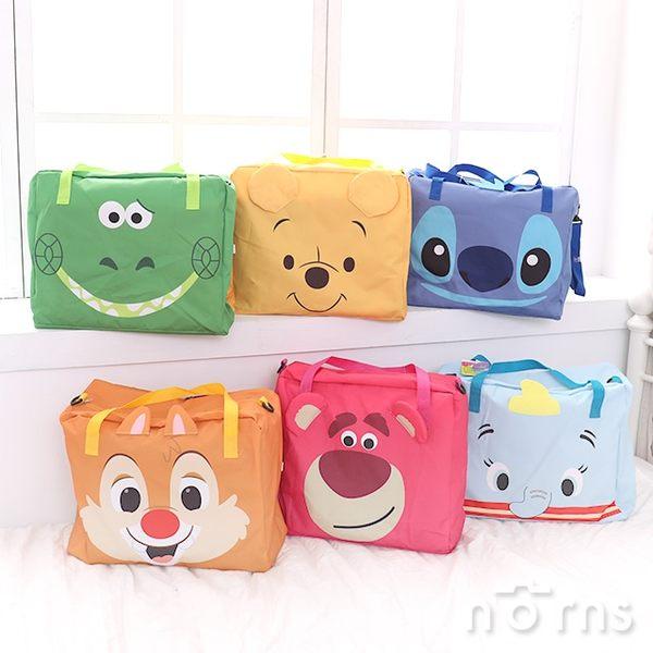 【摺疊式拉桿旅行袋 迪士尼大臉】Norns 行李拉桿包 插桿旅行收納包 側背包 手提袋 運動包 正版